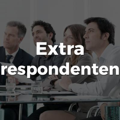 extra respondenten